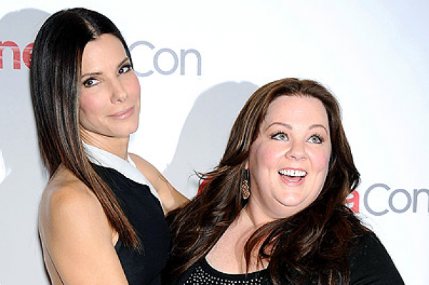 Adorable Pix Of New Comedy Buddies Sandra Bullock And Melissa McCarthy