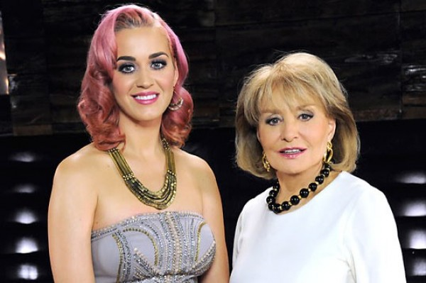 Katy Perry 'Shaded' By Barbara Walters Ahead Of Russell Brand Divorce