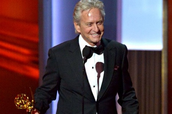 Michael Douglas Thanks WIFE Catherine Zeta-Jones, Makes Raunchy Gay Sex Jokes at Emmys