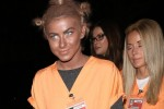 Julianne Hough dresses up as Crazy Eyes from 'Orange is the New Black' as she attends the Casamigos Tequila halloween party in Hollywood