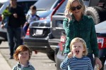 Amy Poehler spends her Sunday with her Favorite Boys