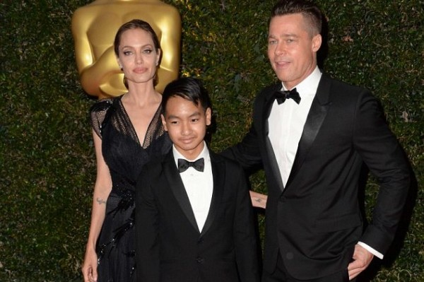 Angelina Jolie New Red Carpet Look (includes Brad Pitt and son Maddox, 12)