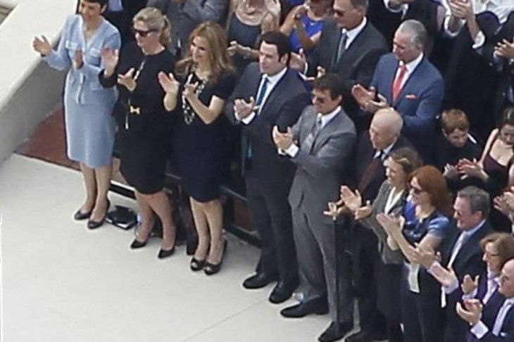 Tom Cruise and John Travolta are in the front row at opening of $145m Scientology cathedral