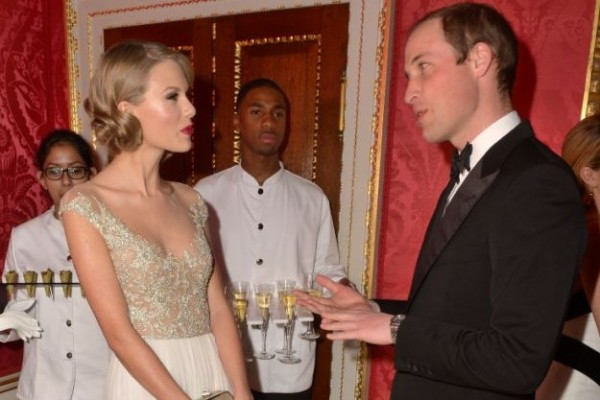 Taylor Swift meets Prince William (One knew you were trouble when you walked in)