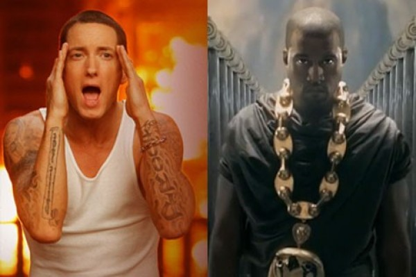 Eminem peeing on Kanye West (what's wrong with these people?)
