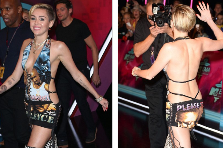 Miley Cyrus Smokes Weed Onstage