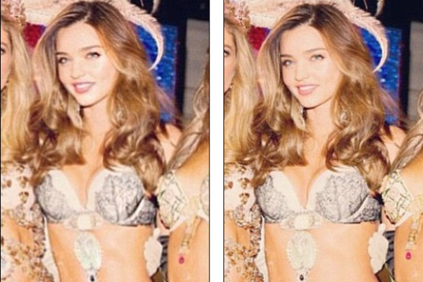 Miranda Kerr accused of making her waist slimmer for Instagram (spot the difference below)