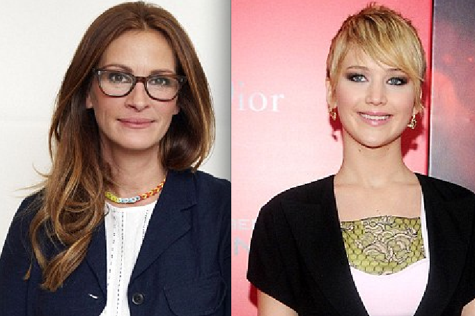 Mean Julia Roberts claims Jennifer Lawrence is 'too cool' to be America's Sweetheart