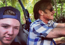 Madonna's son Rocco looks all grown up with mom's ex husband Sean Penn (those eyebrows)