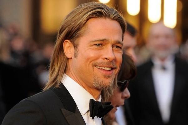 Brad Pitt – LOVE the new haircut! (see below)