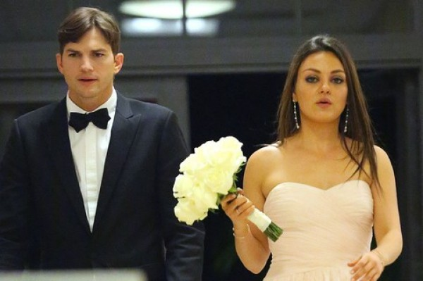Ashton Kutcher And Mila Kunis Walked Down The Aisle Together