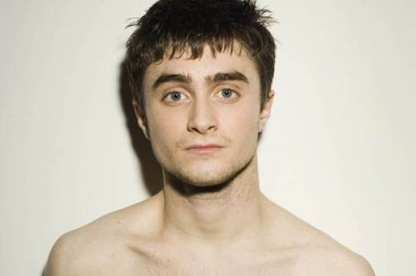 Check out Daniel Radcliffe with some fabulous hair extensions.