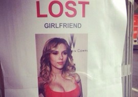 Man Posts 'Lost Girlfriend' Flier Featuring Scarlett Johansson