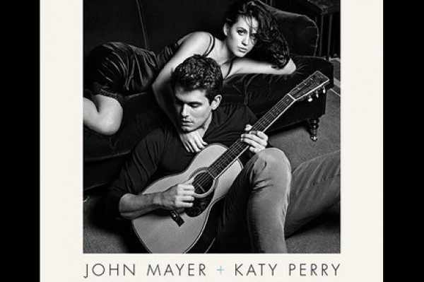 See Katy Perry and John Mayer's Moody and Silly New Album Art (Jennifer Aniston laughing)