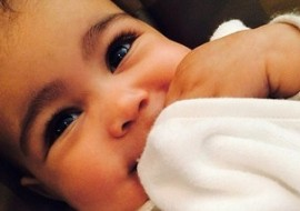 Kim Kardashian Accused of Waxing Her Baby's Eyebrows