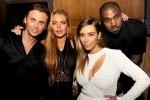 Lindsay Lohan Jonathan Cheban Kim Kardashian Kanye West