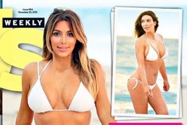 Kim Kardashian Shows Off her Body In A Bikini (boom, she's back)