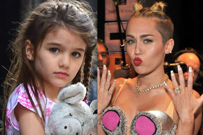 Miley Cyrus too racy for Suri Cruise and Kelly Ripa?