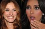 Julia Roberts Kim Kardashian