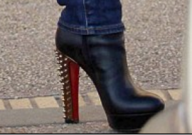 Guess Which Celeb Was Spotted Wearing These Studded High-Heeled Boots