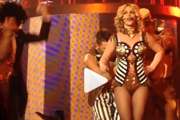 Watch Britney Spears Wardrobe Malfunction On Stage in Las Vegas (dress flew open)