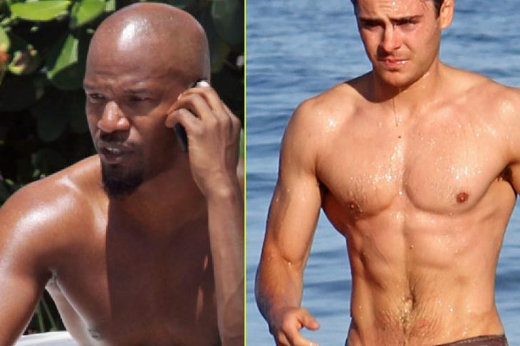 Naked Celebs: 5 Stars Who Couldn't Keep Their Clothes On (Justin Bieber, Jamie Foxx, Pete Wentz, Zac Efron: NSFW)