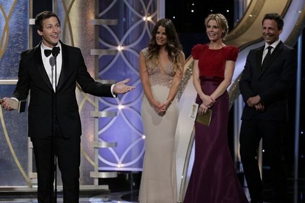 How did Andy Samberg win TWO Golden Globes?