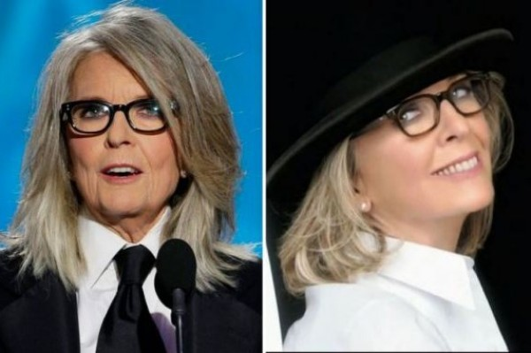 Diane Keaton looks different in her L'Oreal ads says Good Morning America stylist!