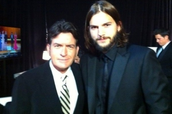 """Charlie Sheen Slams Ashton Kutcher As """"Lame"""" (winning)"""