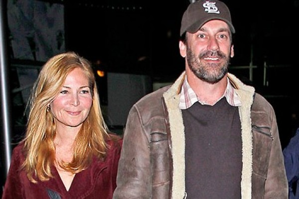 Jon Hamm went on a date to the movies – and he looked like THIS! (hot)