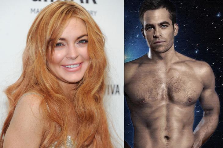 Chris Pine: 'Working With Lindsay Lohan Was Like Cyclone of Insanity.'