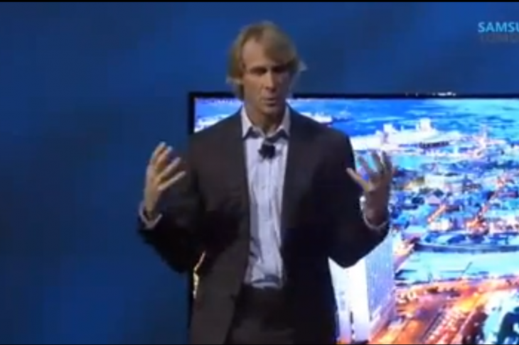Watch Michael Bay's epic MELTDOWN in front of a room full of people