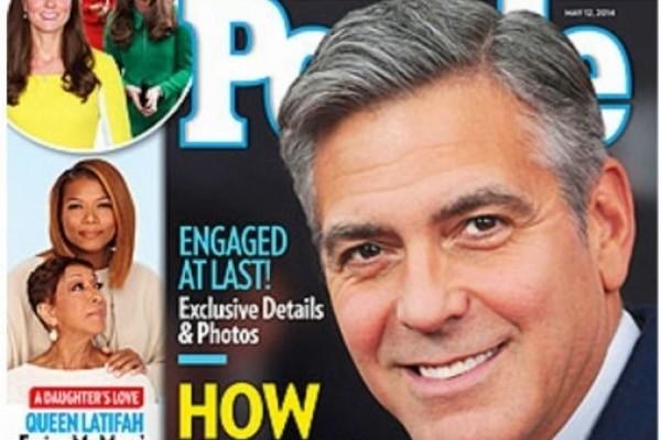 George Clooney- see his ladies ENGAGEMENT RING!
